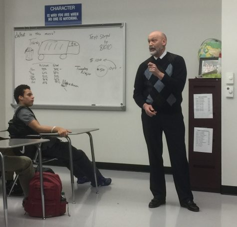 Son of Holocaust survivors visits SHS
