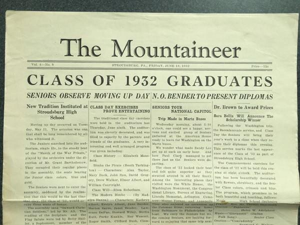 Moving Up Day, 1932:  Read the original article from the first celebration in SHS's history!