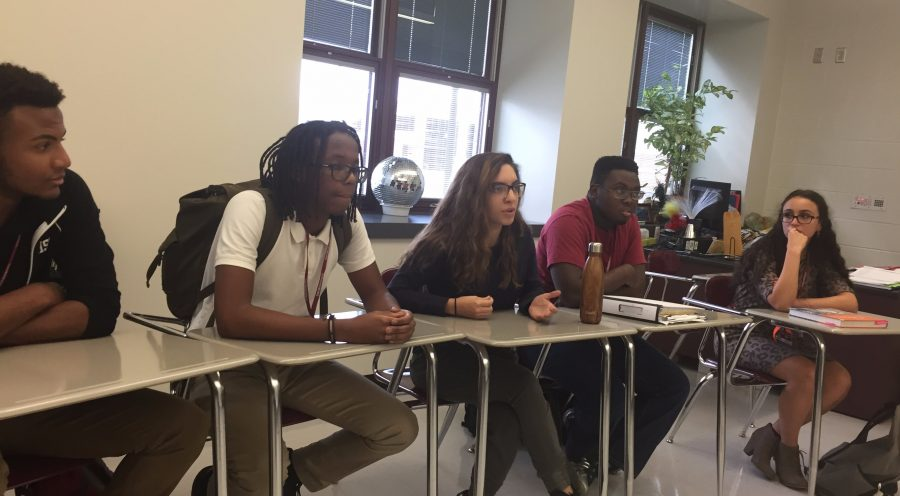 Students discuss interesting topics that challenge their own perspectives.