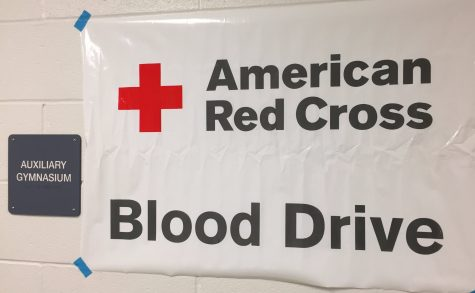 This year's blood drive was held in the auxiliary gym.