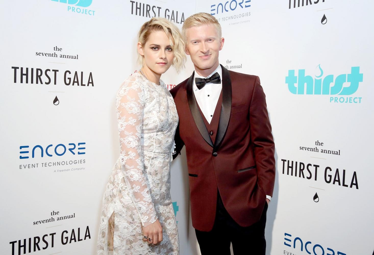 Seth Maxwell, CEO of Thirst Project, pictured with Kristen Stewart of the Twilight movies. Kristen attended the 7th annual Thirst Gala as a presenter for Catherine Hardwick, director of the first Twilight movie.