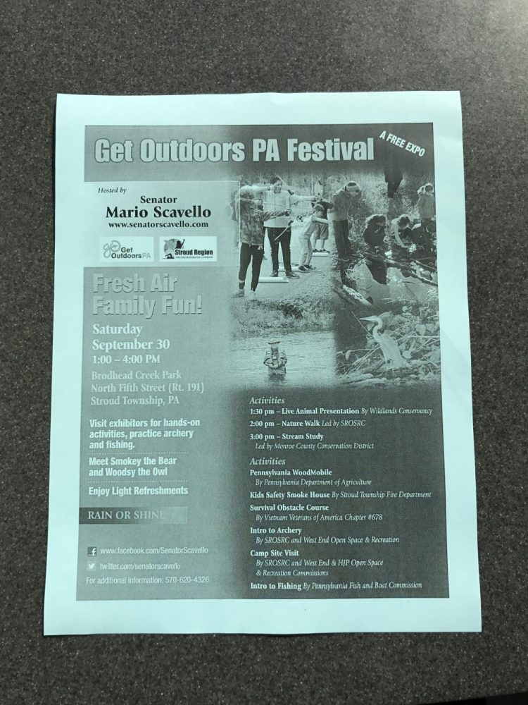 Check out the free PA Outdoor Festival tomorrow