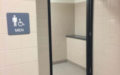 BREAKING NEWS: The boys' bathroom doors are gone!
