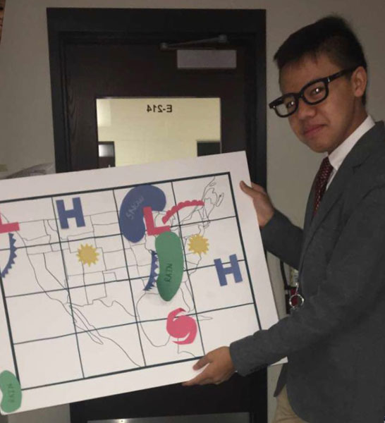 SHS student predicts weather (1/15 - 1/21)