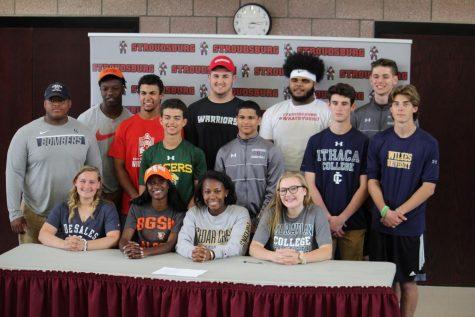 Stroudsburg athletes sign to compete in college