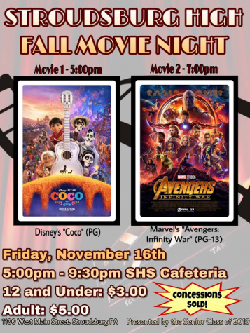 Lights, Camera, Action! Movie Night at SHS on 11/16/18