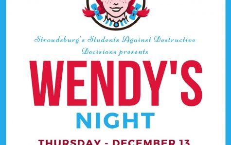 SADD Wendy's Fundraiser: 12/13/18 (5 p.m.- 8 p.m.)