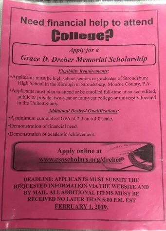 Grace D. Dreher Memorial Scholarship (Due Feb. 1, 2019, 5:00 p.m. EST)