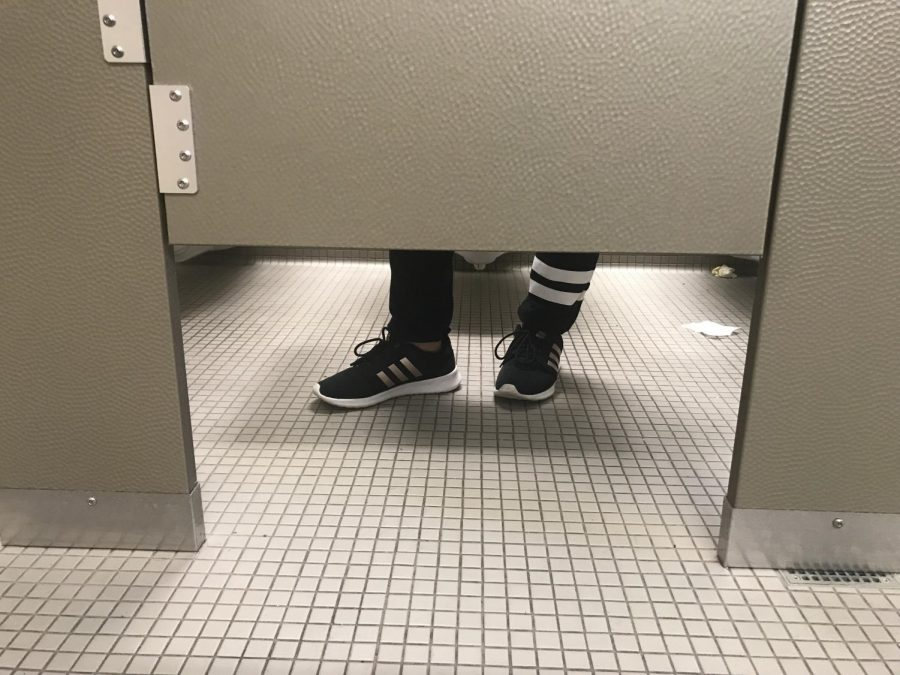 A common practice among students is to vape in the bathroom stalls.
