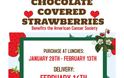 Key Club Chocolate Covered Strawberries: Jan.28 – Feb.13 (Purchase at Lunch)