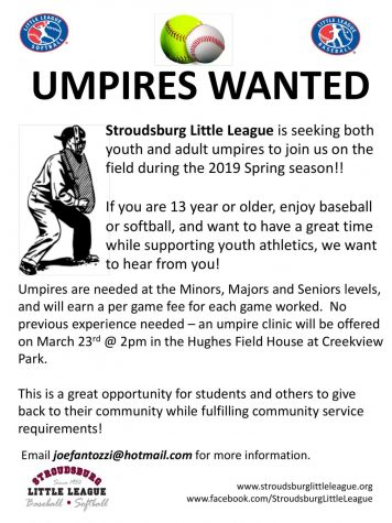 Umpires Wanted for Spring Season