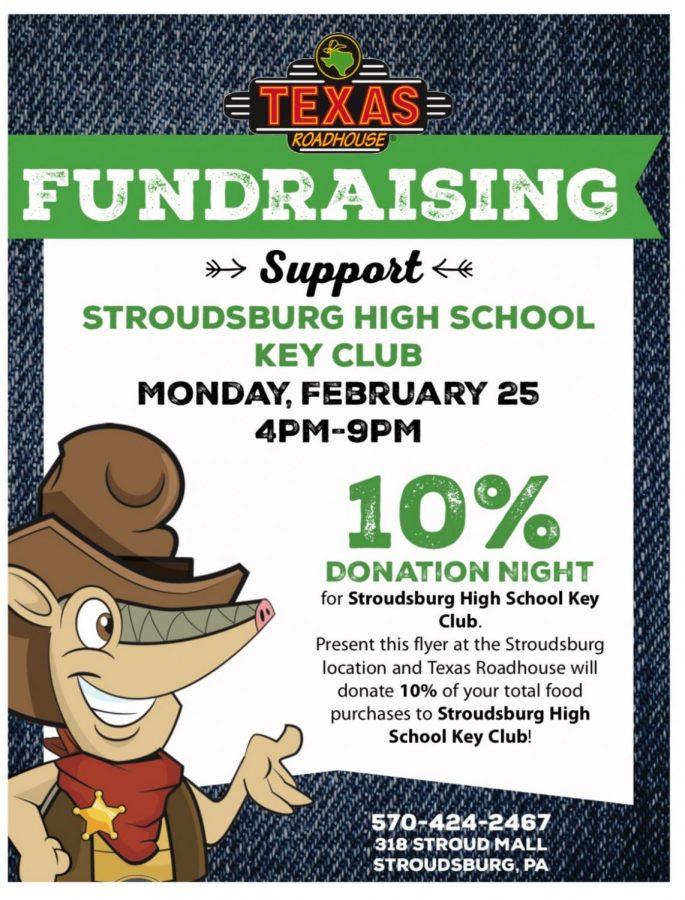 Texas Roadhouse Key Club Fundraiser: 2/25/19 (4 p.m.- 9p.m.)