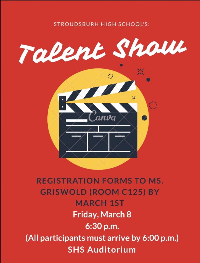 Stroudsburg High School's Talent Show: 3/8/19 (6:30 p.m.)