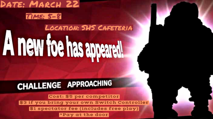 Smash Bros Challenge: 3/22/19 (5 p.m. -  8 p.m.)