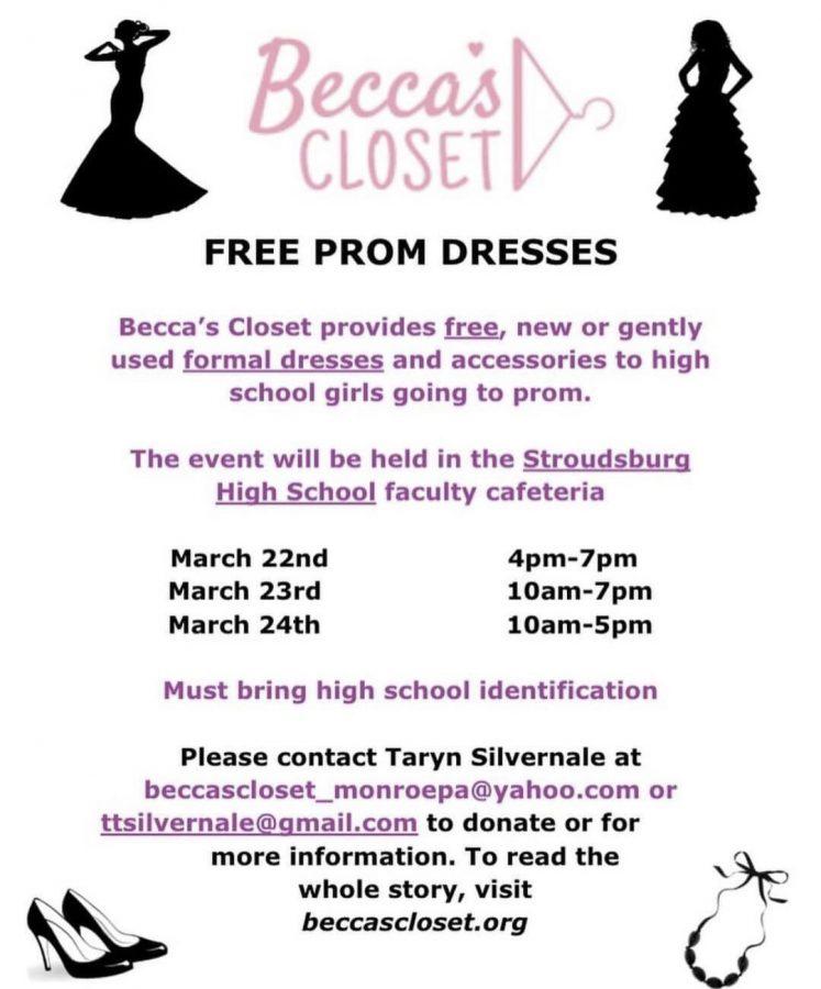 Becca's Closet Free Prom Dresses: 3/22/19 - 3/24/19