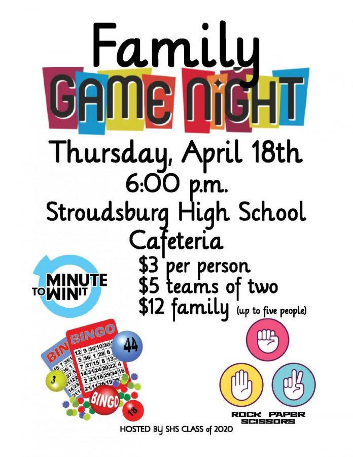 Family Game Night: 4/18/19 (6 p.m.)