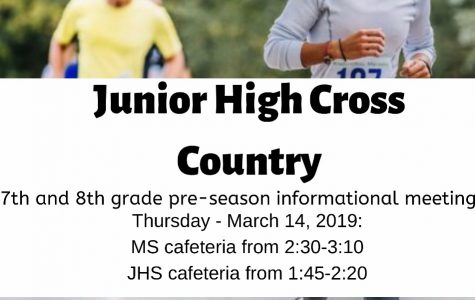 Junior High Cross Country Pre-Season Informational Meeting: 3/14/19