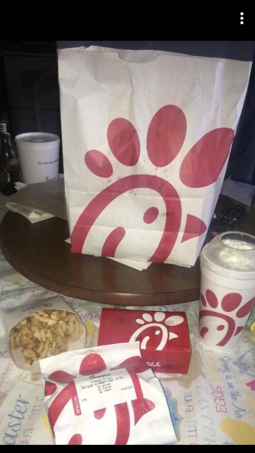 Chick-Fil-A fast food.