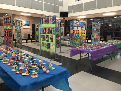Students of all ages display work at district-wide art show