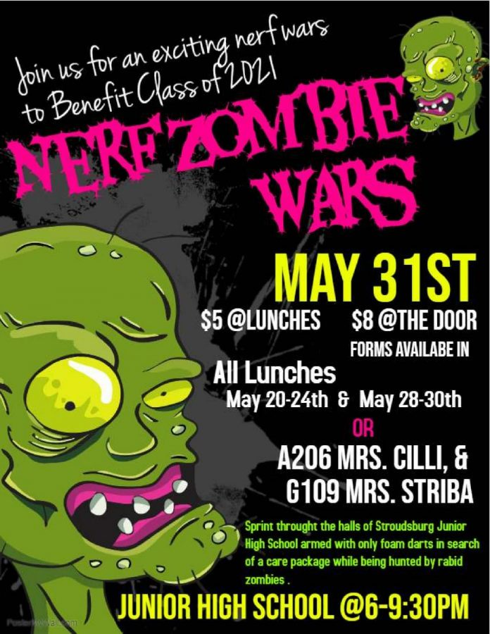 Zombie Wars: 5/31/19 (6:00 p.m.) CANCELED