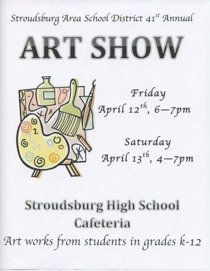 SASD 41st Annual Art Show: 4/12/19 (6:00 p.m.- 7:00 p.m.) - 4/13/19 (4:00 p.m.- 7:00 p.m.)
