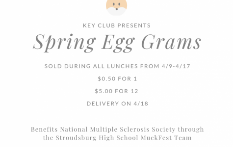 Spring Egg Grams: 4/9/19 – 4/17/19 (sold during lunches)