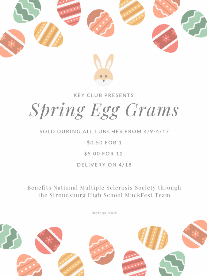 Spring Egg Grams: 4/9/19 - 4/17/19 (sold during lunches)
