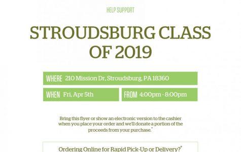 Stroudsburg Class of 2019 Panera Fundraising: 4/5/19 (4:00 p.m.- 8:00 p.m.)