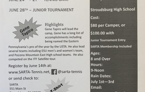 SARTA Tennis Camp: 6/24/19 and 6/28/19
