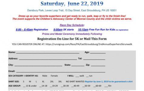 3rd Annual Superhero 5k Run/Walk: 6/22/19