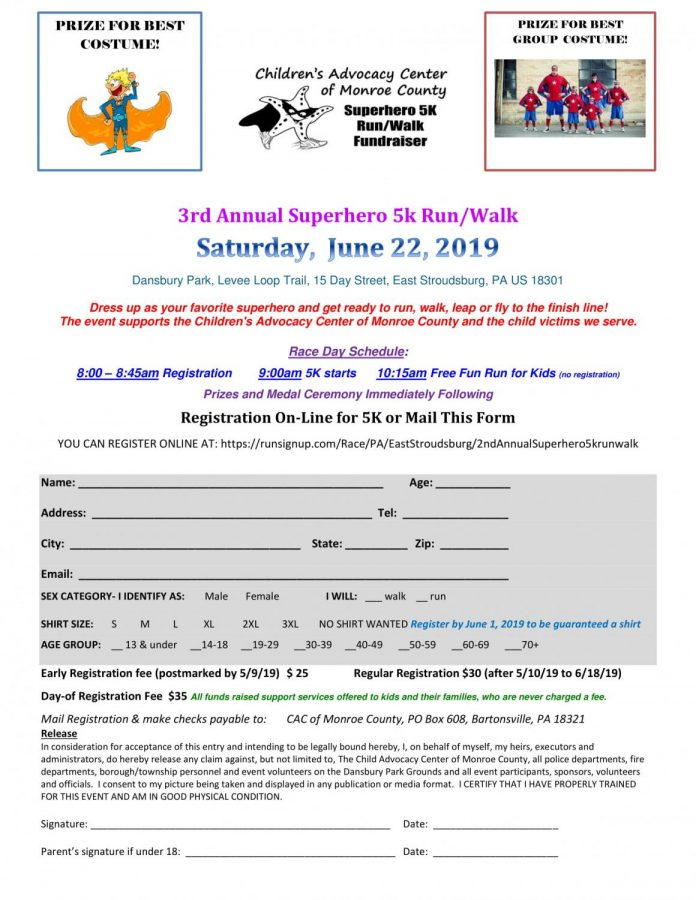 3rd Annual Superhero 5k Run/Walk: 6/22/19