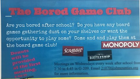 More information about the board game club.