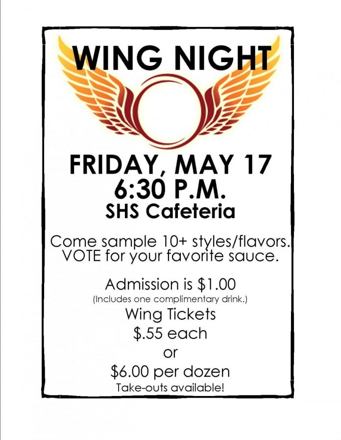 Wing Night: 4/17/19 (6:30 p.m.)