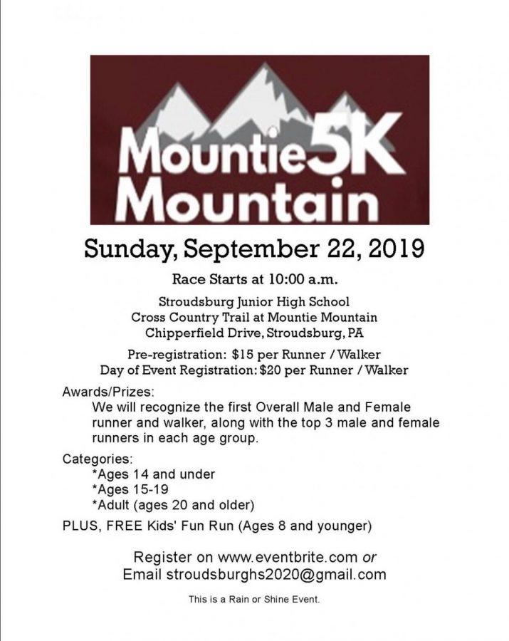 Mountie 5K Mountain on Sept. 22