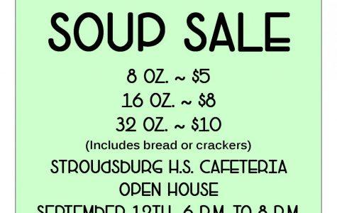 Soup Sale: 9/12/19 (6-8 p.m)