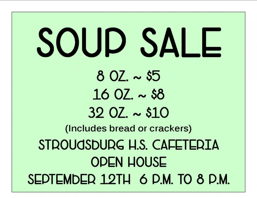 Soup Sale during the High School Open House