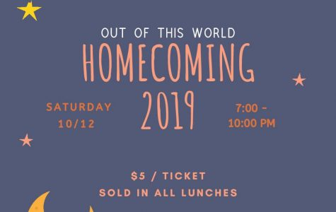 Homecoming: 10/11/19 (7-10 P.M)