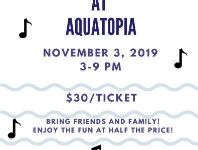 Stroudsburg Music at Aquatopia: 11/3/19 (3-9 p.m)