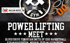 Power lifting/blood drive to be held at Muscle Inc. Gym this weekend!