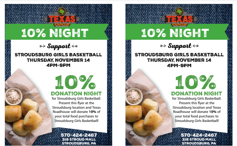 Stroudsburg Girls Basketball Fundraiser