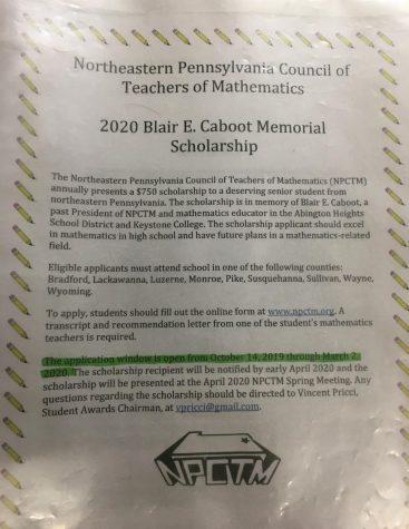 2020 Blair E. Caboot Memorial Scholarship