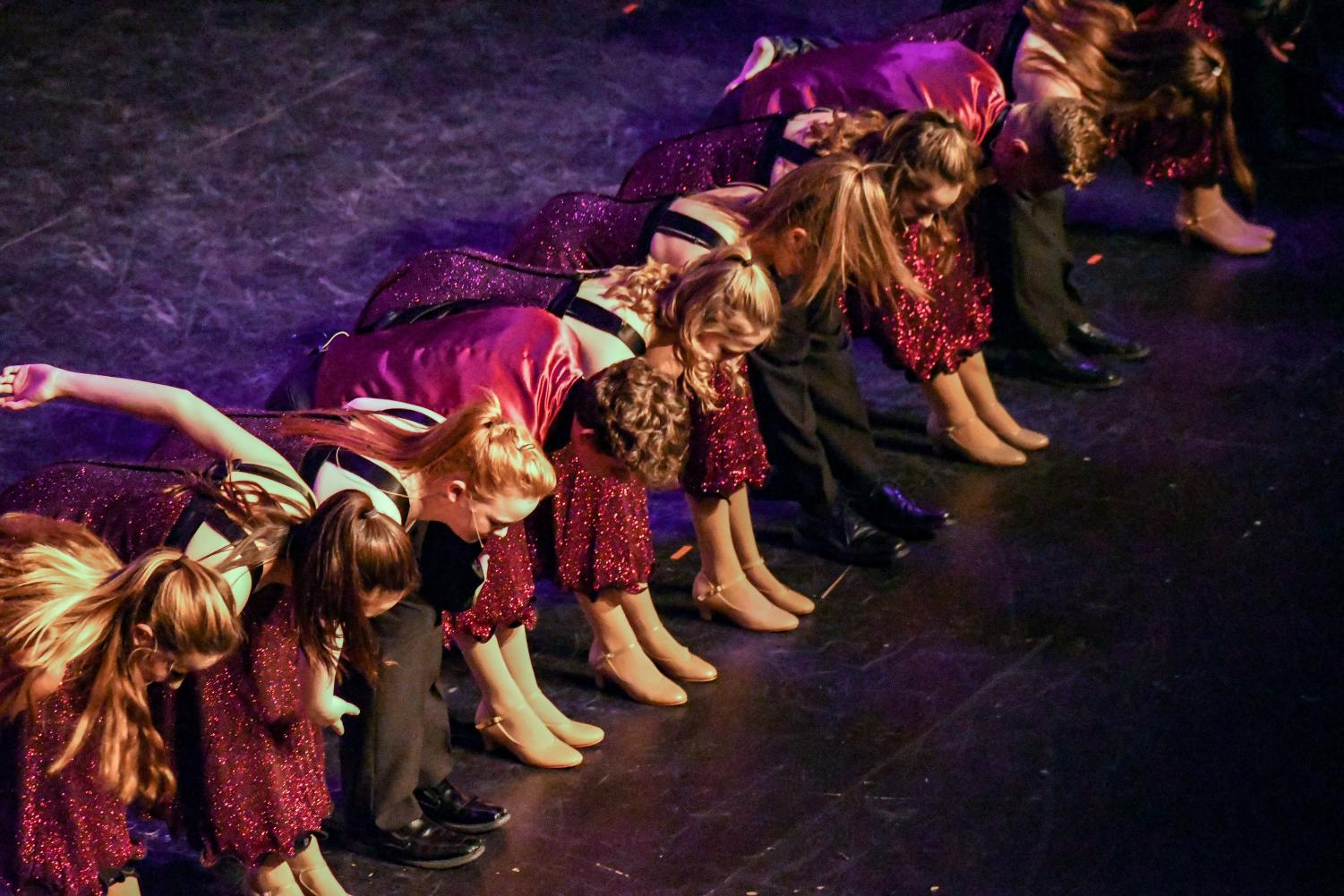 Stroudsburg students bowing after an amazing show.