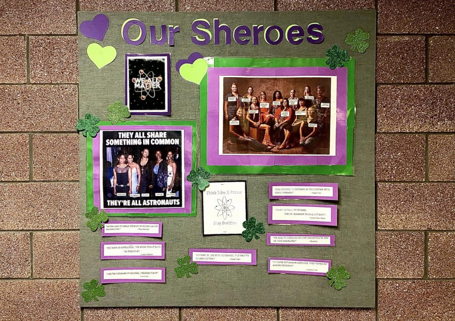 Photo of the Day- Women's History Month is about to begin. Have you checked out this bulletin board outside of the library that acknowledges important female scientists?