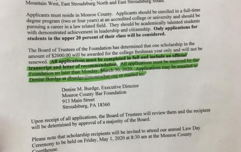 Monroe County Bar Foundation 2020 Scholarship