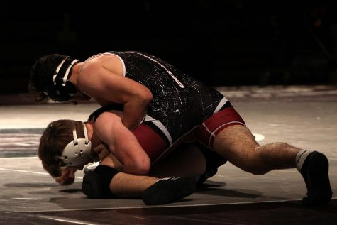 Stroudsburg wrestlers at one of their matches.