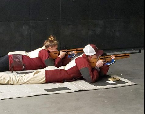 Shooters at Rifle practice