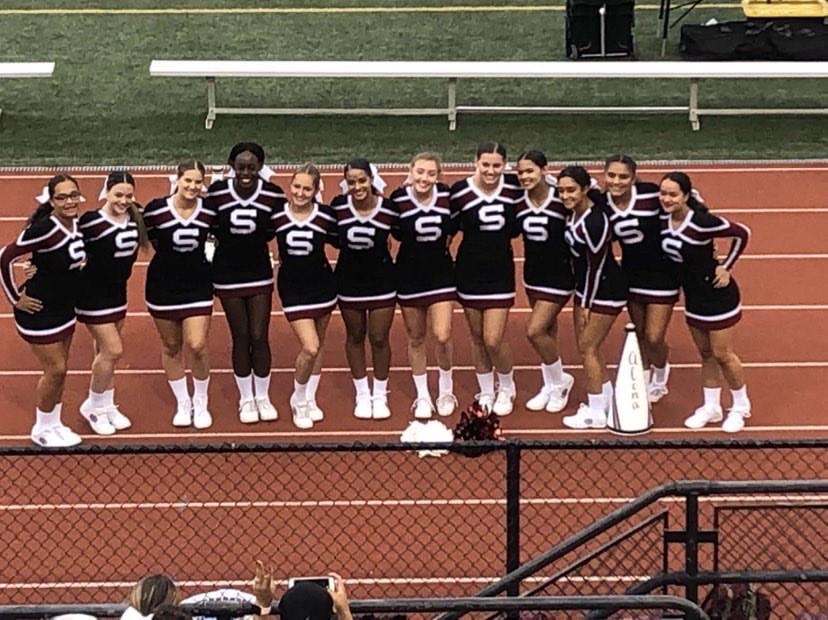 SHS+Varsity+Cheerleaders+at+a+football+game