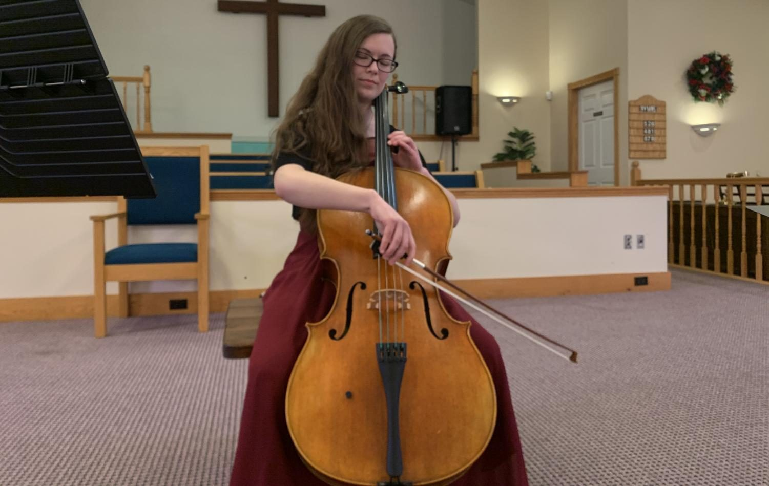 Elizabeth Mathiesen playing at a Pre-Audition recital.