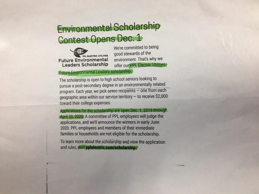 Environmental+scholarship