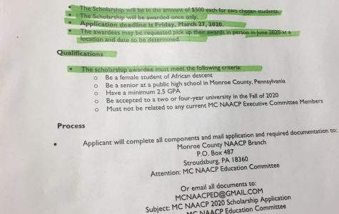 Monroe County Branch NAACP 2020 scholarship Application Criteria